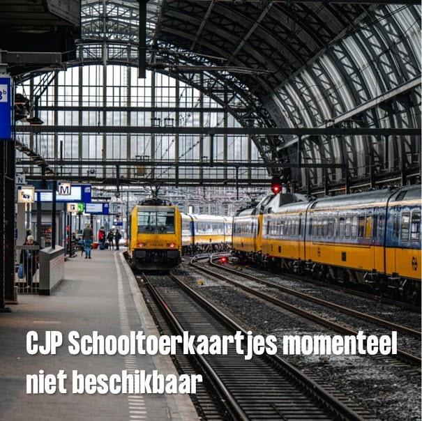 CJP Schooltoerkaartjes momenteel niet beschikbaar